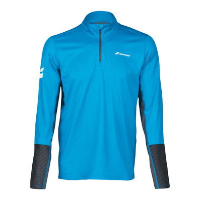 BABOLAT - CORE 1/2 ZIP - Maillot Homme diva blue/rabbit