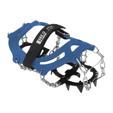 LACD - SPIKES EASY II LARGE - Mountaineering Crampons - blue