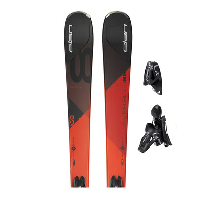 ELAN - AMPHIBIO 8 PS - All Mountain Skis - black/red + Bindings - EL 10.0 SHIFT