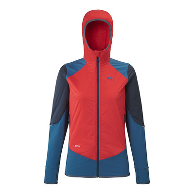 MILLET - TOURING SPEED X.C.S. HOODIE - Chaqueta mujer fire/cosmic blue