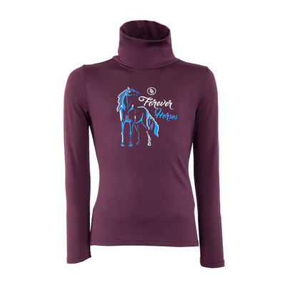 BR EQUITATION - CARME - Base Layer - Junior - plum