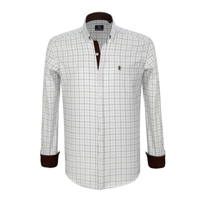 PAUL PARKER - GE 102 2019 - Shirt - Men's - ecru/brown