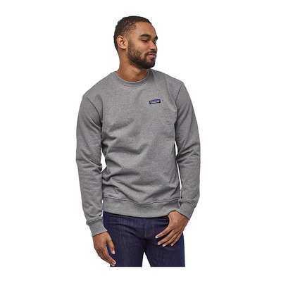 PATAGONIA - P-6 LABEL UPRISAL CREW - Sudadera hombre gravel heather