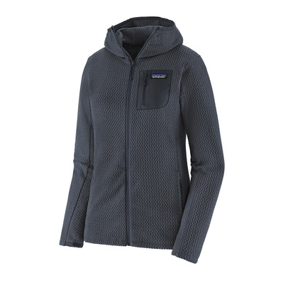 PATAGONIA - R1 AIR FULL-ZIP HOODY - Felpa Donna smolder blue