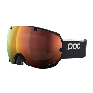 POC - LOBES CLARITY - Masque ski uranium black/spektris orange