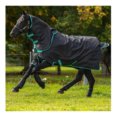 HORSEWARE - AMIGO HERO 900+ TURNOUT - Manta de paddock 200g black/teal