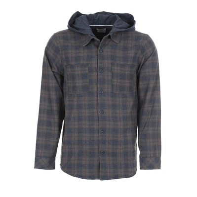 HURLEY - CROWLEY WASHED HOODED - Camisa hombre brown/grey