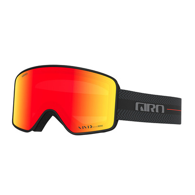 GIRO - METHOD - Masque ski black techline/vivid ember/viv inf