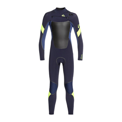 QUIKSILVER - SYNCRO PLUS CZ - Wetsuit - 5/4/3mm Junior - dark navy/iodine blue/safety yellow