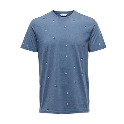 ONLY & SONS - KNIT CO100 - T-Shirt - Men's - dark blue