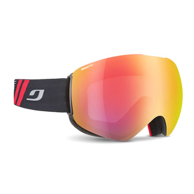 JULBO - SKYDOME - Masque ski photochromique Homme noir/flash rouge