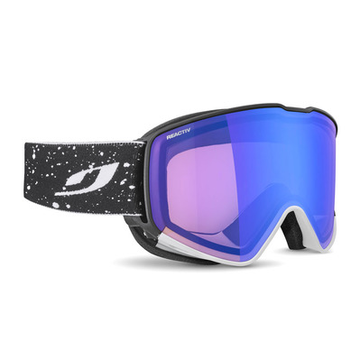 JULBO - CYRIUS - Masque ski photochromique noir/blanc/flash bleu