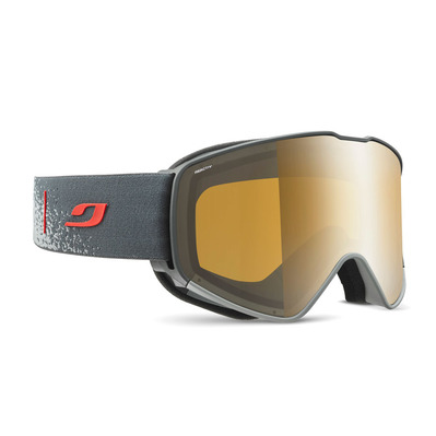 JULBO - CYRIUS - Masque de ski gris/rouge/flash argent