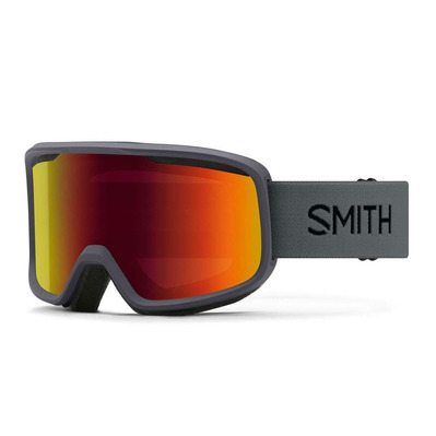 SMITH - AS FRONTIER - Gafas de esquí charcoal - red slx m
