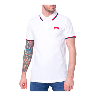 LEVIS - SS MODERN - Polo hombre hm patch white w tipping