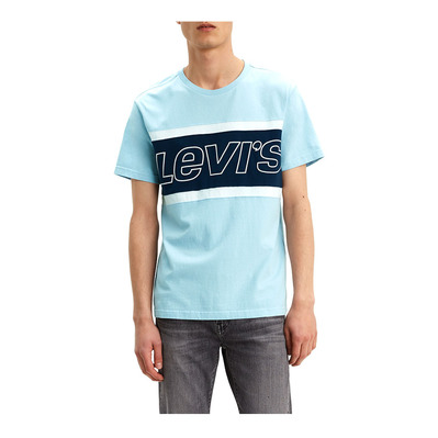 LEVIS - SS COLOR BLOCK - Camiseta hombre jersey colorblock skyway white dress blues/whi