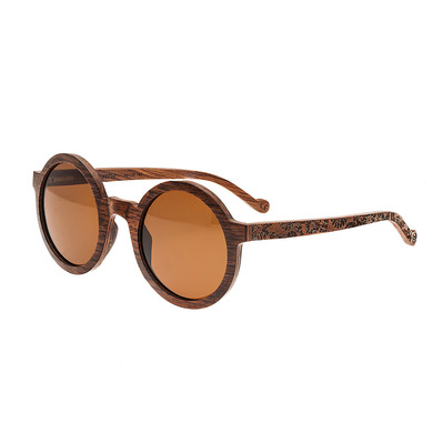 EARTH WOOD - CANARY - Wooden Polarised Sunglasses - brown/brown