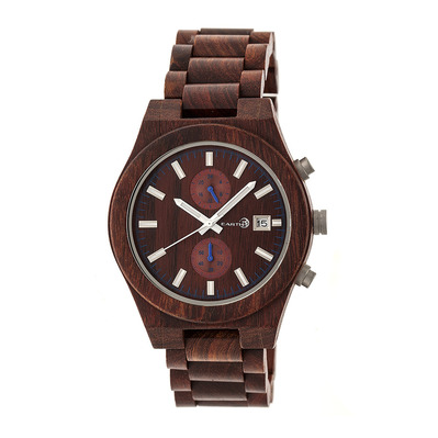 EARTH WOOD - CASTILLO - Chronograph Watch - red