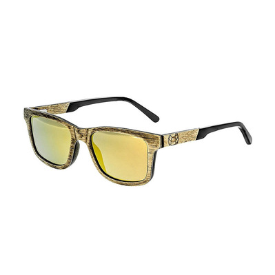 EARTH WOOD - TIDE - Polarised Sunglasses - brown gold/yellow