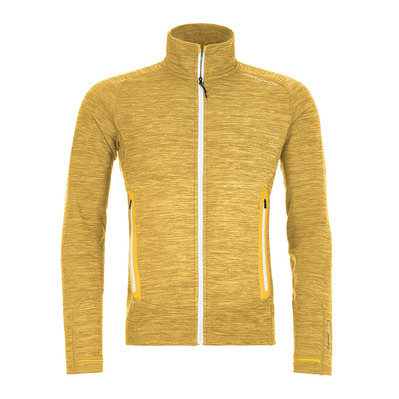 ORTOVOX - FLEECE LIGHT MELANGE 87068 - Fleecejacke - Männer - yellow corn blend