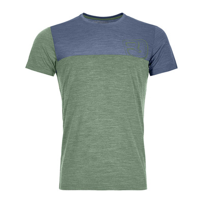 ORTOVOX - 150 COOL LOGO TS - Camiseta hombre green isar blend