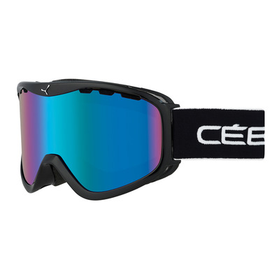 CEBE - RIDGE OTG - Masque ski black/yellow/brown flash blue