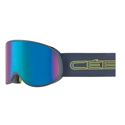 CEBE - ATTRACTION - Masque ski matt ciment/lime/brown flash blue + amber flash mirror