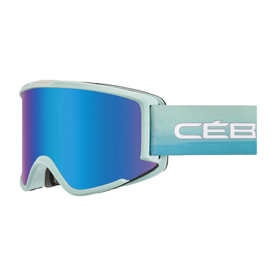 CEBE - SILHOUETTE - Masque ski matt jade/brown flash blue