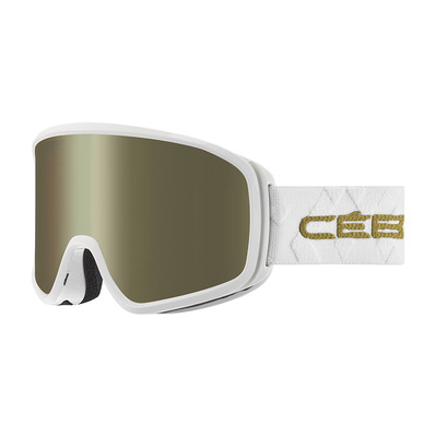 CEBE - STRIKER EVO - Masque ski matt white/gold/dark rose flash gold