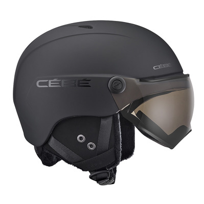 CEBE - CONTEST VISION - Casque ski avec écran matt black/grey ultra black