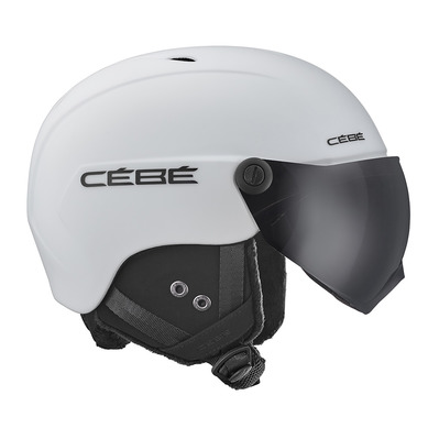 CEBE - CONTEST VISION - Casque ski avec écran matt white/grey ultra black