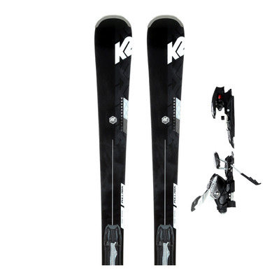 K2 - SUPER CHARGER 19/20 - All Mountain Skis - Men's - black/white + Bindings - MXCELL 12 TCX QUIKCLIK anthracite
