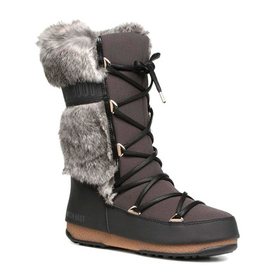 MOON BOOT - MONACO TE WP - Apres-Ski - Women's - black mud