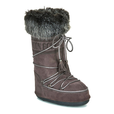MOON BOOT - VELVET - Apres-Ski - Women's - velvet anthracite