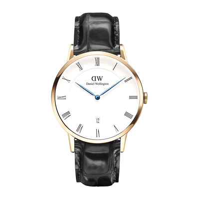 DANIEL WELLINGTON - Reloj de cuarzo hombre DAPPER READING 38mm white/black/pink gold