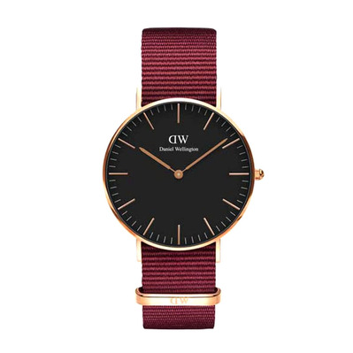 DANIEL WELLINGTON - ROSELYN 36mm - Reloj de cuarzo red/black/rose gold