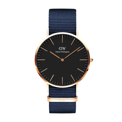 DANIEL WELLINGTON - BAYSWATER 40mm - Reloj de cuarzo blue/black/pink gold