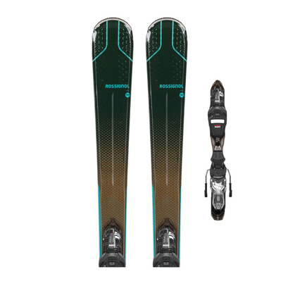ROSSIGNOL - EXPERIENCE 74 W XP + XP W10 GW - Pack skis all-mountain + Fixations Femme