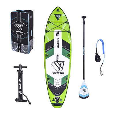 WATTSUP - GUPPY 9'2020 - Inflatable SUP Board - green + Accessories