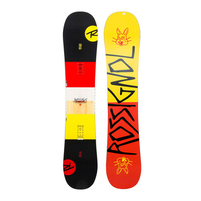 ROSSIGNOL - JIBFLUENCE - All Mountain/Freestyle Snowboard - red/yellow