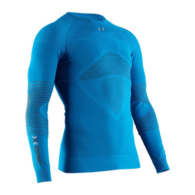 X-BIONIC - ENERGIZER RNECK LS M - Base Layer - Men's - teal blue/anthracite
