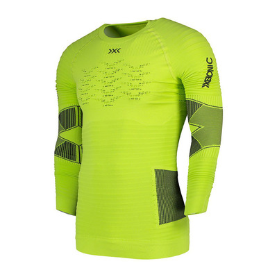 X-BIONIC - EFFEKTOR RUN POWERS LS M - Base Layer - Men's - effektor green/anthracite