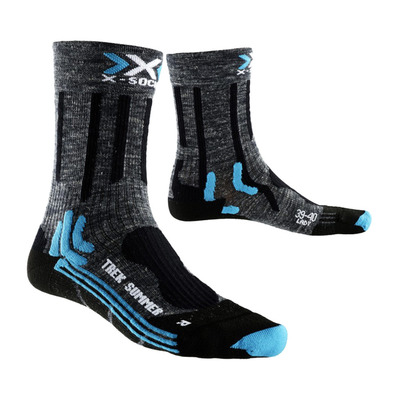 XSOCKS - X-Socks TREK SUMMER - Calze Donna anthracite/black