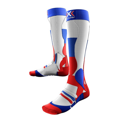 XSOCKS - X-Socks SKI PATRIOT RUSSIA - Calze da sci blue/red/white
