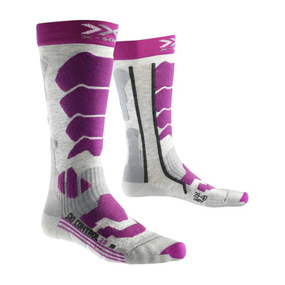 XSOCKS - X-Socks SKI CONTR - Calze grey/purple