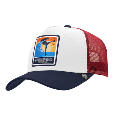 THE INDIAN FACE - BORN TO BODYBOARD - Cap - white/blue/red