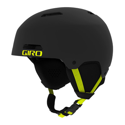 GIRO - LEDGE FS - Casque ski matte warm black/citron