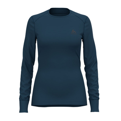 ODLO - ACTIVE WARM - Maglia termica Donna blue wing teal