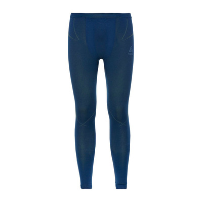 ODLO - PERFORMANCE EVOLUTION WARM - Calzamaglia Uomo estate blue/limeade