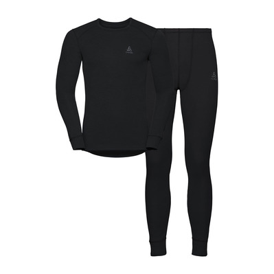 ODLO - ACTIVE WARM - Camiseta térmica + Mallas largas hombre black